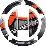 Motorrad Tank 3 d 3d Gel Aufkleber Gas Cap Pad Cap-Pad Cappad Abdeckung Aufkleber Tank Pad Tank Pad Tank-Pad für Suzuki GSXR 600 GSXR600 650 GSXR650 750 GSXR750 2004-2016 (Silber)