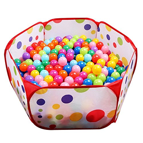 Superideal Playpen Ball Pit, 39.4-inch by 19.7-Inch with Zippered Storage Bag