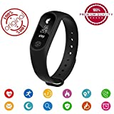 Xiaomi Redmi 4 (4X) Compatible Smart Bracelet Fitband With Heart Rate Monitor OLED Display Bluetooth 4.0 Waterproof Sports Health Activity Fitness Tracker Bluetooth Wristband Pedometer Sleep Monitor Black Waterproof Smart Bracelet | Call Reminder | Clock
