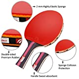 Weeygo Unisex Adult Table Tennis Set, Red, S