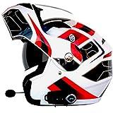 Casque de Moto Casque de Moto Tout-Terrain Anti-bu/ée Adulte Double lentille Casque de Moto int/égral pour Casque de Motocross pour Toutes Les Saisons