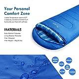 Mountaintop Schlafsack, ultraleicht mit kleinstem Packmaß Reiseschlafsack Sommerschlafsack leicht Deckenschlafsack - 4