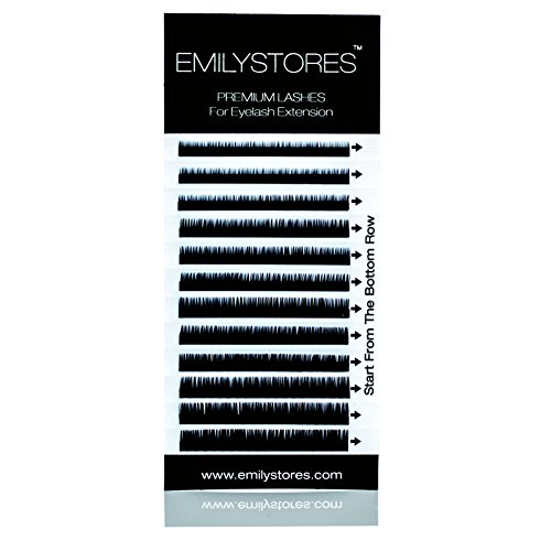 EMILYSTORES Eyebrow Eyelash Extensions Under Lower False Lashes Mixed J Curl 0.10mm Length 5mm 6mm 7mm 8mm In One Tray by EMILYSTORES
