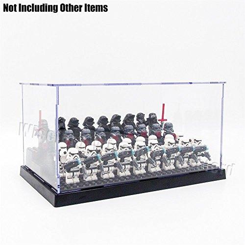 Preisvergleich Produktbild Tingacraft - Vitrine 240 x 140 x 120 mm Schwarz Selbstmontage Acryl Display Case für Minifigur
