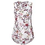 Tops SANFASHION Damen Sommer ärmellose Blumendruck V-Ausschnitt tägliche Weste Tank Top Bluse