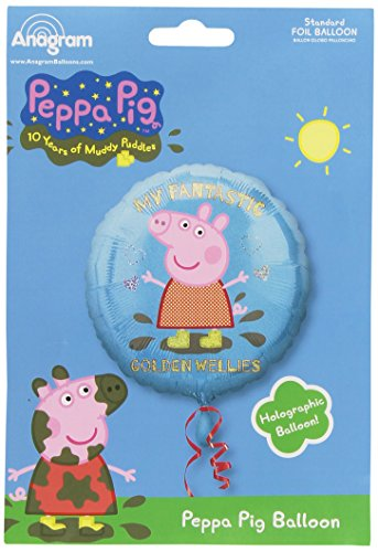 amscan Peppa Pig Time to Play Standard HX Folie Ballons (Peppa Favors Pig Party)