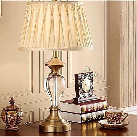 SSBY Lámparas de mesita de noche decorativas dormitorio minimalista moderno, lujo cálido y lámpara de mesa de cristal, sala de estar estudian luces