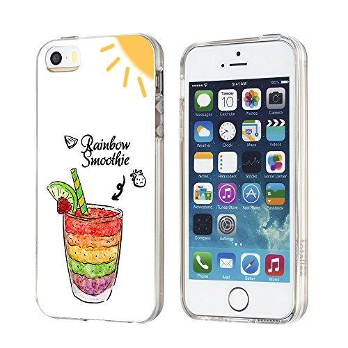 Vanki® Coque iPhone 5/5S/SE, Motif de tournesol de lapin Ultra transparente silicone en gel TPU souple Housse Etui Coque de Bumper et Anti Scratch Shock Absorption for iPhone 5/5S/SE 4