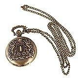 Abeillo Caso de cuarzo reloj de bolsillo de bronce Reloj de bolsillo antiguo Blanco Dial reloj de bolsillo clásico delicado retro Velas águila