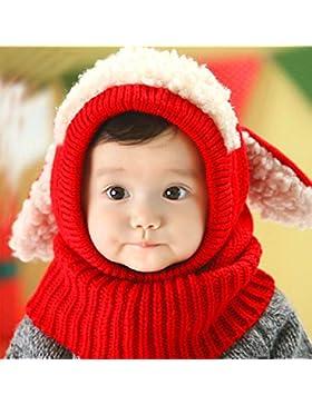 Xiaoyu bebé niñas niñas bufanda de invierno de invierno pañuelos de lana bufandas capucha bufandas sombrero de...
