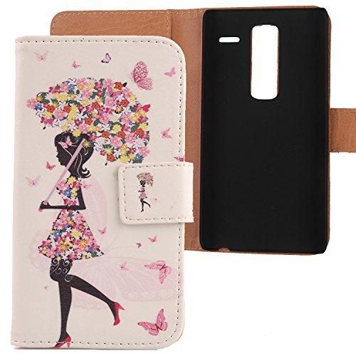 Lankashi PU Flip Leder Tasche Hülle Case Cover Schutz Handy Etui Skin Für LG Class H650 Zero F620 5