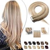 Extension Adhesive en Cheveux Naturel Bande Adhesive 20 Pcs - Tape in Human Hair...