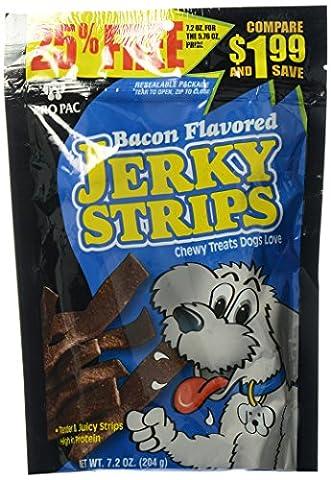 Midwestern Pet Pro Pac Bacon Flavored Jerky Strips Healthy Dogs Chew Treat 7.2z