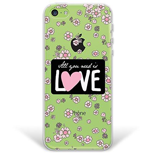 iPhone 5C Hülle, WoowCase® [ Hybrid ] Handyhülle PC + Silikon für [ iPhone 5C ] Indische Pferde Sammlung Tier Designs Handytasche Handy Cover Case Schutzhülle - Transparent Hybrid Hülle iPhone 5C D0309
