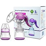 Ajustable Manual extractor de leche con tapa para lactancia materna Botella Biberón de ahorro de leche máquina