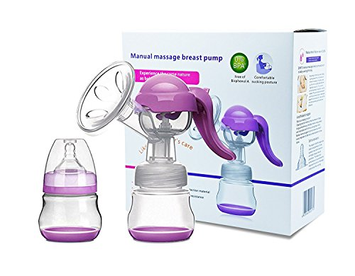 Manuelle Milchpumpe - Verstellbare Silikon Hand Brustpumpe Stillen Lebensmittelqualität BPA frei Milch Brust Pumpen mit Deckel