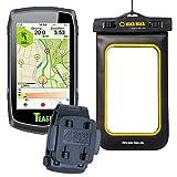 TEASI ONE Classic - Fahrrad- & Wandernavigation+USB Netzteil+ optionales Zubehör (Teasi Classic + Gürtel-und Rucksackclip, WakaWaka Tasche)