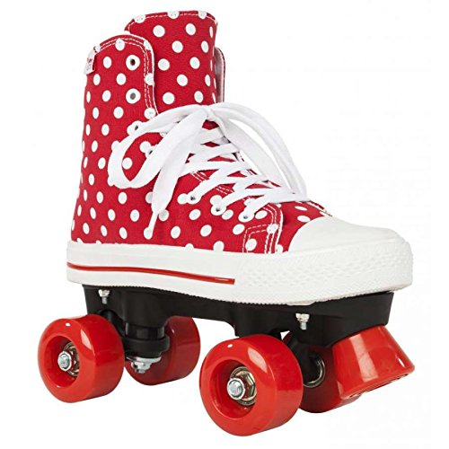 ROOKIE CANVAS HIGH POLKA DOTS Rollschuh 2016 red/white