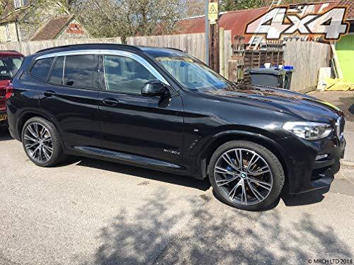 Autoclover - Juego deflectores Viento cromados BMW