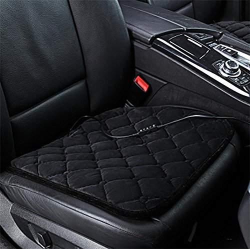 DIELIAN Auto Sitz Heizung wärmer Pad beheizt Sitz Kissen heißen Auto 12V Wärme Heizung wärmer Pad Winter , Black