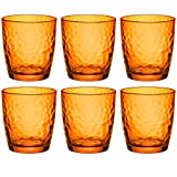 Palatina Gefärbte Trinkgläser - 320 ml - Orange - 6er Set