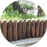 ZENGAI Gartenzaun Lattenzaun Palisade Dekoration Abgeschnitten Antiseptikum Dauerhaft Faltbar Biegbar Draussen Terrasse Flachkopf 120cm Lang (Size : 120cmx45cm)