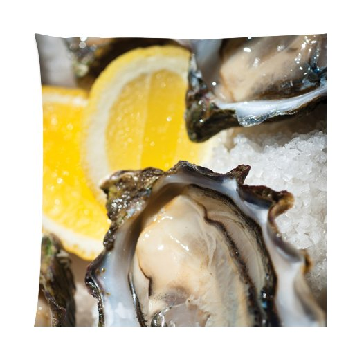 Tasmania Oysters ice orange Zippered Pillow Cases Cover Cushion Case 18x18 Inch Case Cover Ice