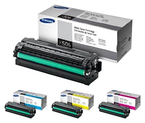 CLT-K506L/ELS Samsung Original Toner schwarz/Cyan/Gelb/Magenta (Hohe Reichweite) - Kompatibel mit: CLP-680ND/680DW | CLX-6260 Series - Samsung Serie 6000