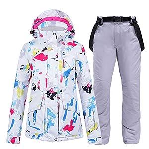 Azastar Skianzug Damen Tops Hosen Set Wasserdicht Winddicht Warmer Schneeanzug Erwachsene Damen Schneeanzüge