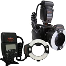 Mcoplus -14EXT Flash Anular LED Macro con pantalla LCD para Nikon i-TTL con LED lámpara de ayuda AF