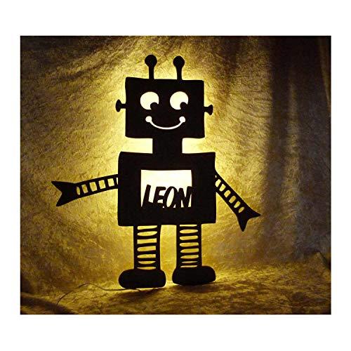 achtlicht Roboter mit Name nach Wunsch, ideales Geschenk für Roboter-Fans und Kinder ()