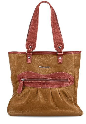 TAMARIS RACHEL Handtasche, Shopper, Stickerei, 4 Farben: ocean blau, mocca braun, sangria rot oder curry gelb curry gelb