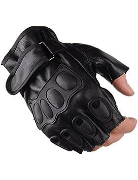 Hombres Semi-guantes Montando Al Aire Libre Deportes Aptitud Protección Antideslizante Entrenamiento