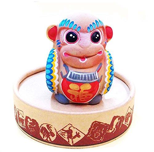 Preisvergleich Produktbild Lehm-Chinese-Eigenschaft Spielfiguren Ton-Skulptur Stern Ornaments
