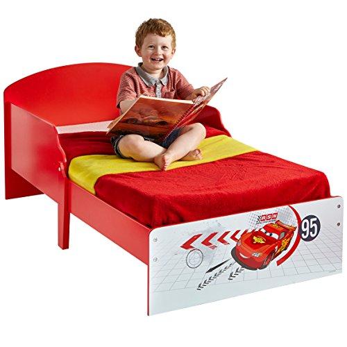 Kinderbett Juniorbett Autobett Kinder Cars Einzelbett McQueen Kleinkinderbett 70x140 Babybett Kindermöbel Spielbett Rot