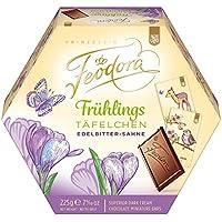 Feodora Frühlings-Täfelchen Edelbitter-Sahne, 4er Pack (4 x 225 g)