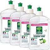 L'Arbre Vert Líquido lavavajillas a mano, limón verde, 500 ml, lote de 4