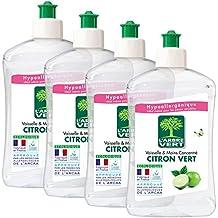 L'ARBRE VERT Liquide Vaisselle Main Citron Vert 500 ml - Lot de 4