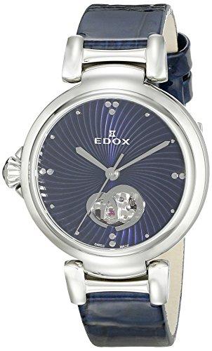 Edox Women's 85025 3C BUIN LaPassion Analog Display Swiss Automatic Blue Watch