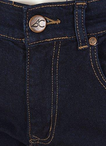Avoir Couture Herren Jeanshose Blau Blau Schwarz - Schwarz