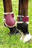 Protège-boulets NORTON 'Confort' - coque bordeaux, mouton synthétique beige - Taille cheval