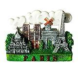 zamonji Notre Dame de Paris, Moulin Rouge, Francia   3D Imán de Nevera de Resina Turista Ciudad de Recuerdos