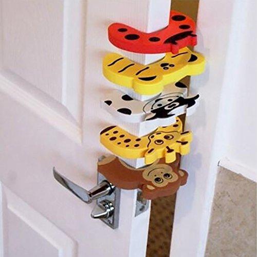 5x Kinder Sicherheit Cartoon Tier Schaumstoff Tür Stopper Kissen Finger Sicherheit Guard Dekorative Tür Halter Schloss Finger Schutz