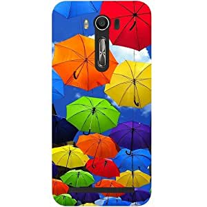 Casotec Colorful Umbrellas Design Hard Back Case Cover for Asus Zenfone 2 laser ZE500 KL