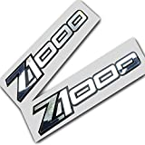 Twisted Melon Kawasaki Z1000 Z1000 Lot de 2 Stickers en Chrome argenté sur Noir