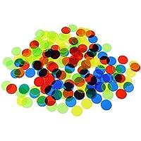 Gazechimp Bingo Chips Translúcido para Juego de Bingo en Aula y Carnaval - Color mezclado, 100 piezas