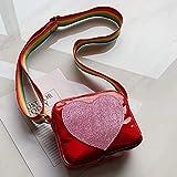 Mitlfuny handbemalte Ledertasche, Schultertasche, Geschenk, Handgefertigte Tasche,Mode kinder schulter messenger strahlung geldbörse pack für kind