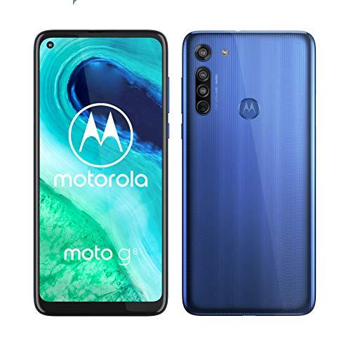 Oferta de Motorola Moto G8 - Smartphone 64GB, 4GB RAM, Dual Sim, Neon Blue