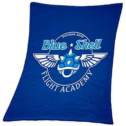 Compagno Babydecke Blue Shell kuschelweich für Mädchen und Jungen 95 x 80cm Baby Geschenk Geburt Decke