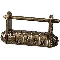 BQLZR - Candado para maletas y caja Metal chino Estilo Antiguo Vintage para maletas y caja